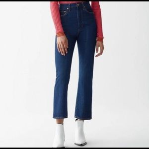 NWT Agolde Pinch Waist High Rise Kick Radio Jeans